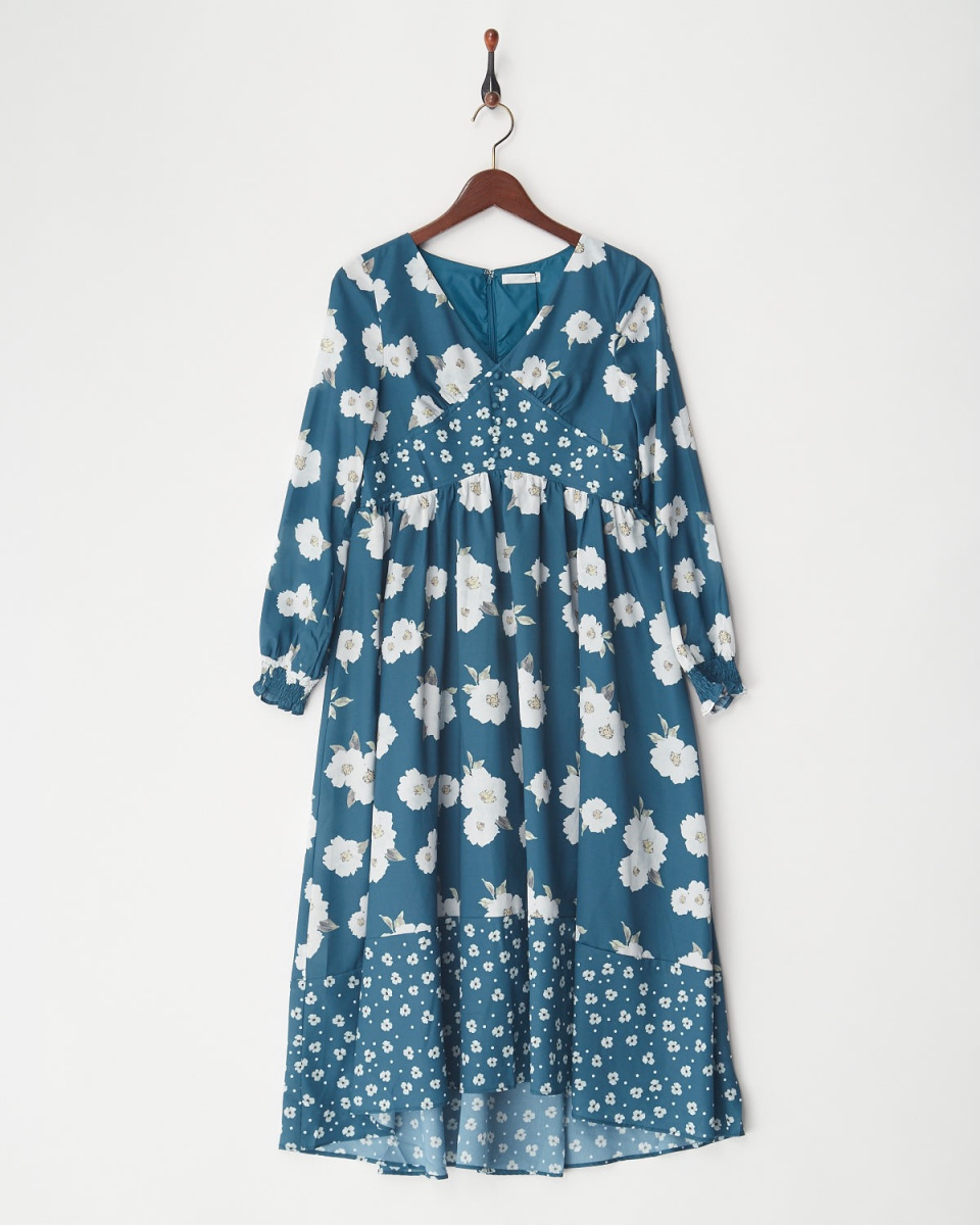 MIIA / GR混合花长裙○34834911 /女子