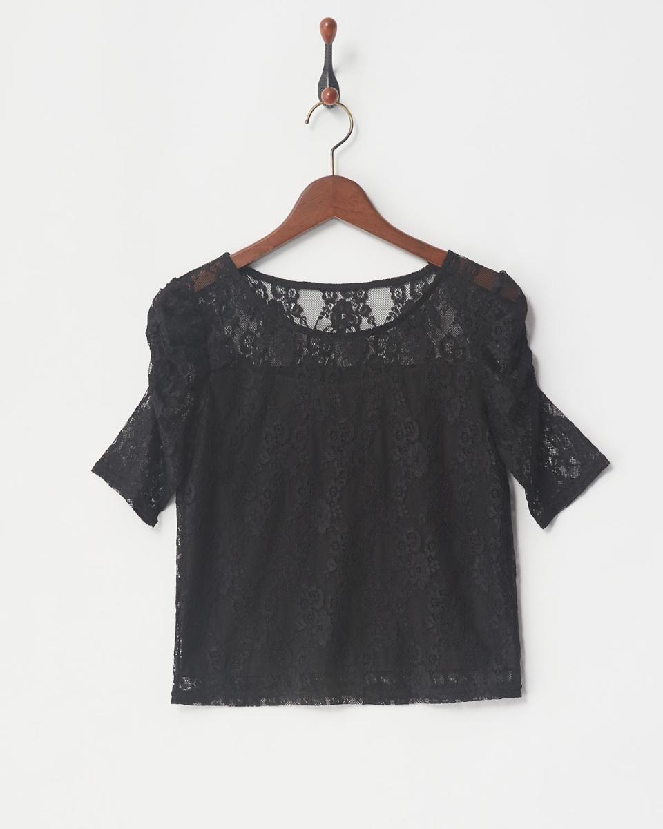 MIIA / BK power shoulder lace tops ○ 34834424 / Women's