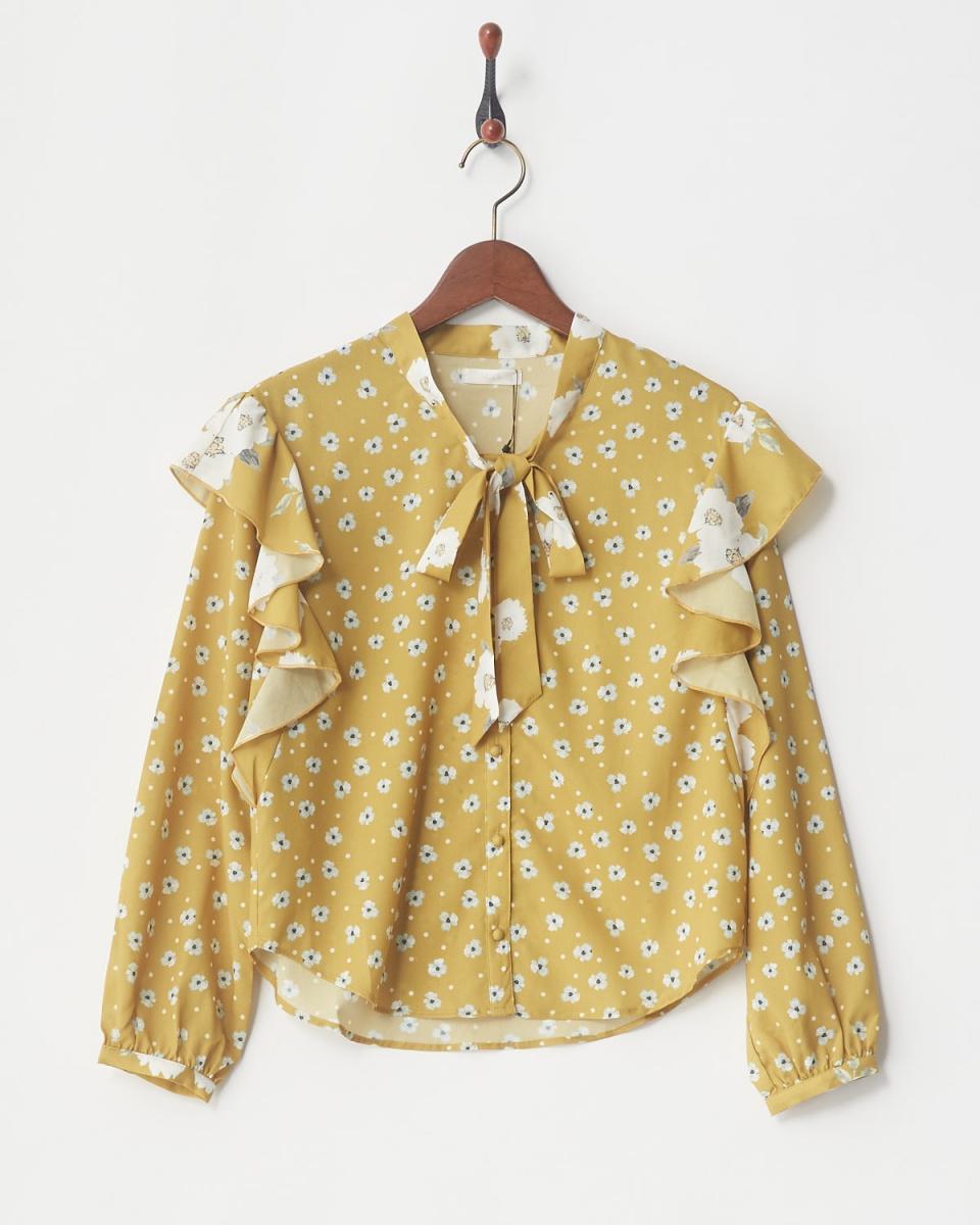MIIA / YE mix flower bowtie blouse ○ 34835018 / Women's