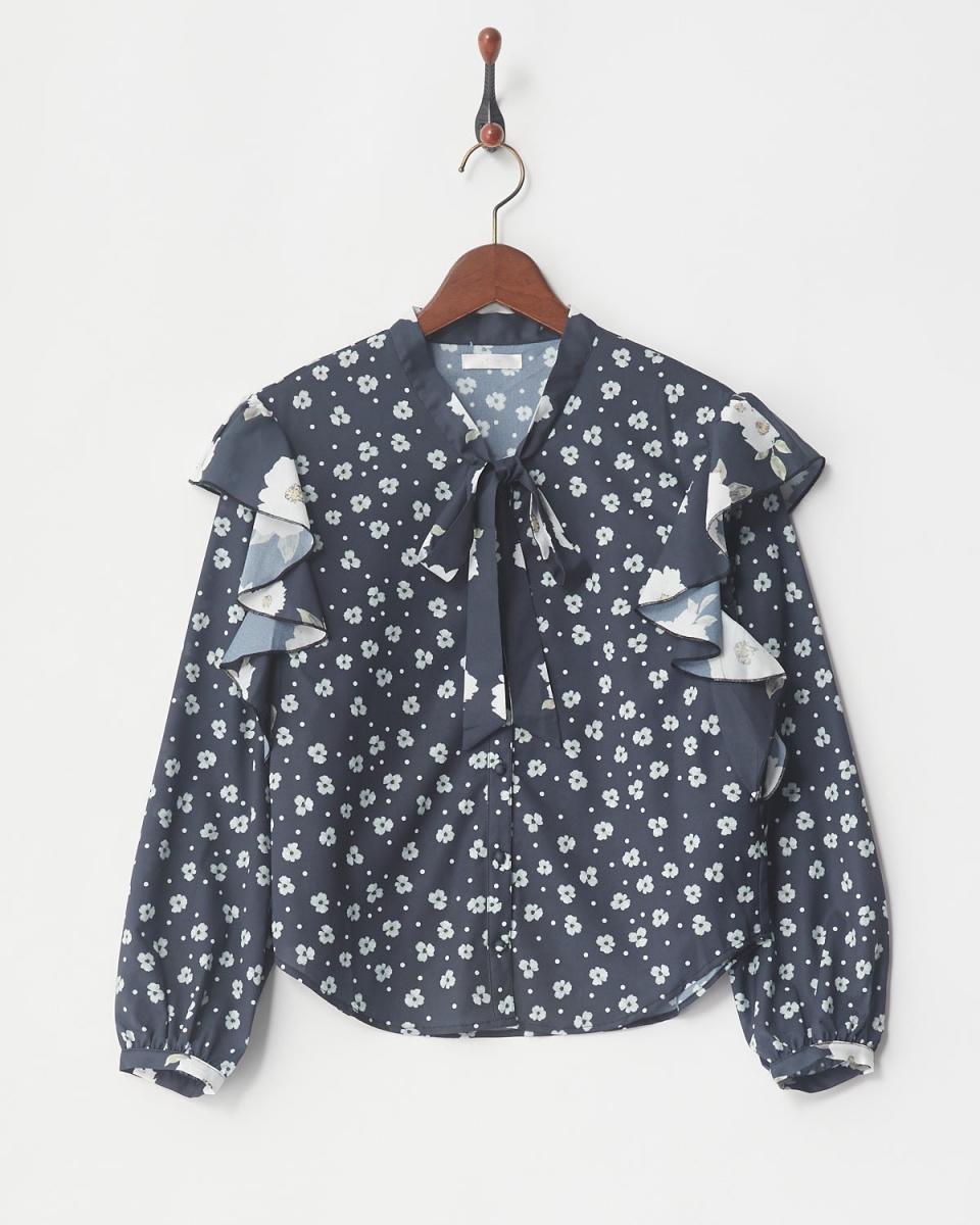 MIIA / NY组合花领结衬衫○34835018 /女子