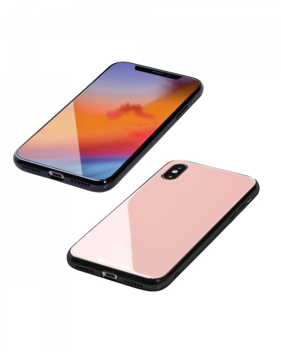 DEFF /粉色混合殼體Etanze為iPhone XS最大○DCS-IP18LTGGM