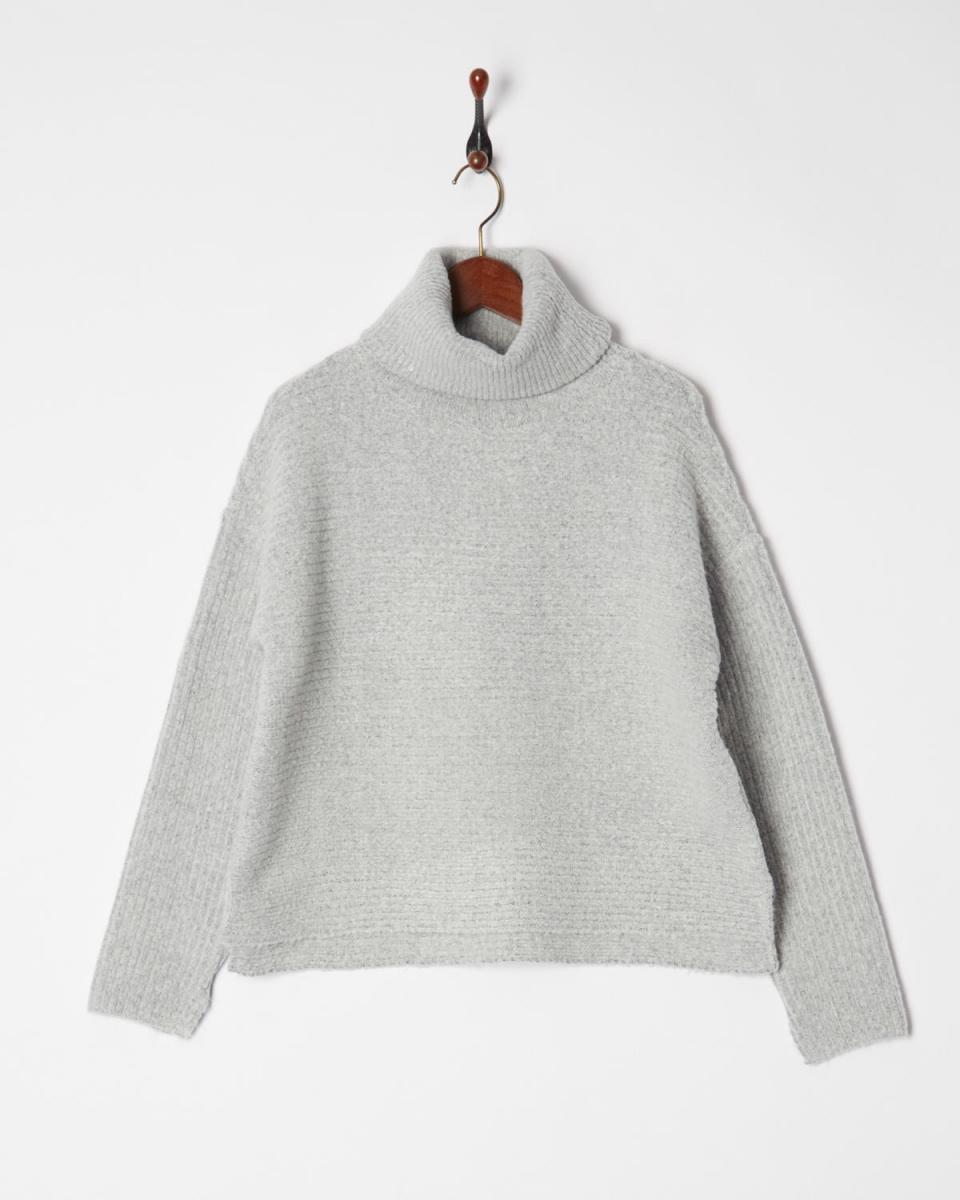 AMBINET /浅灰色高领针织宽○CSVA0171 /女装