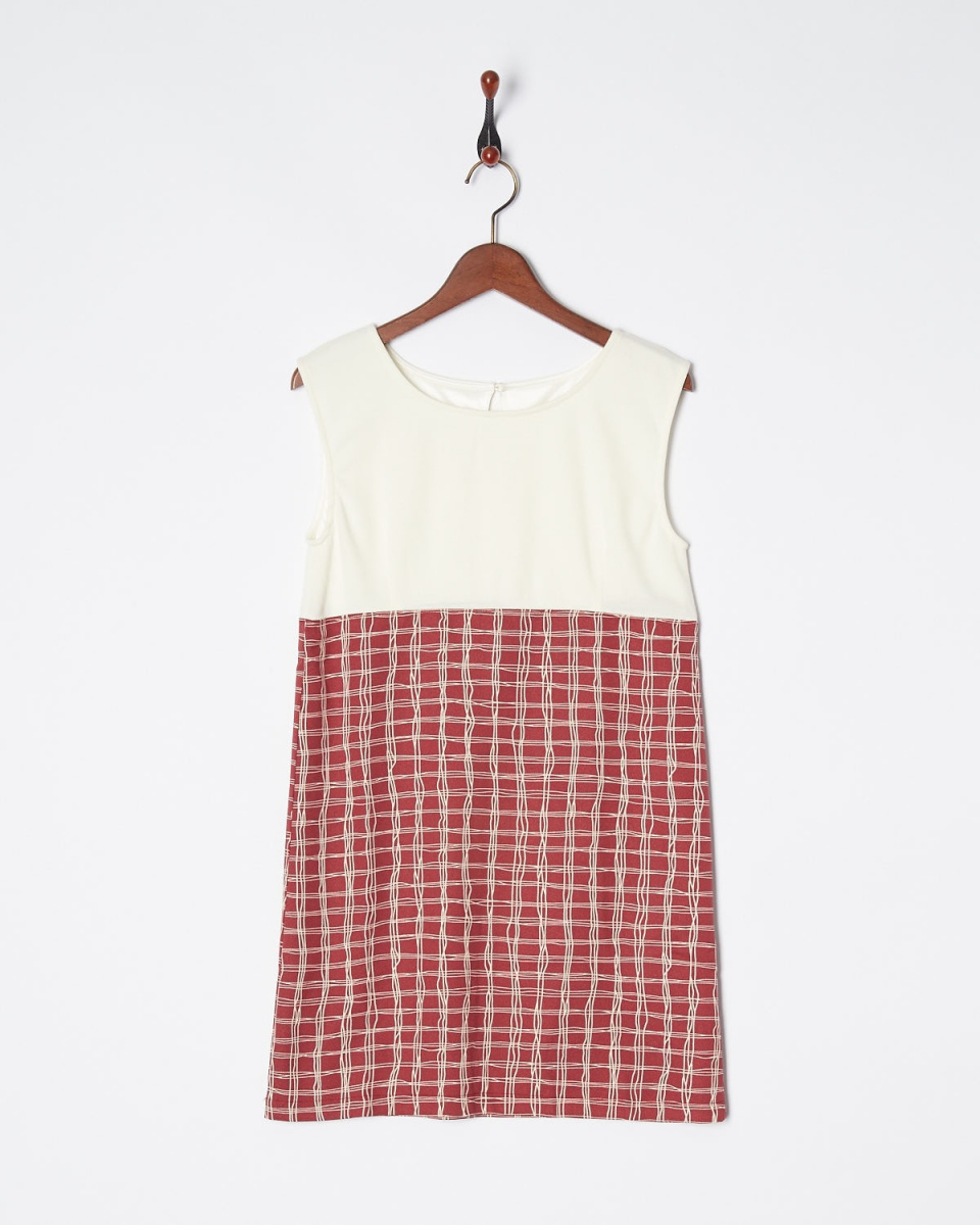 Roomy's / off-white check switching dress ○ 44536321 / Women's