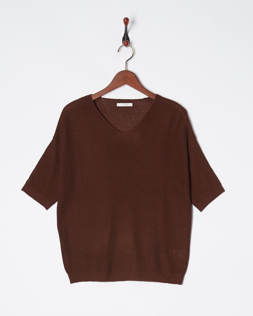 宽敞的/棕色脊薄针织○52930013 /女子