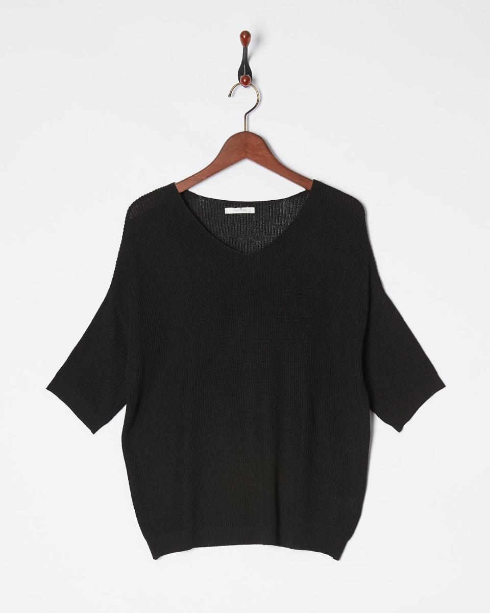 Roomy's / black thin ridge knit ○ 52930013 / Women's
