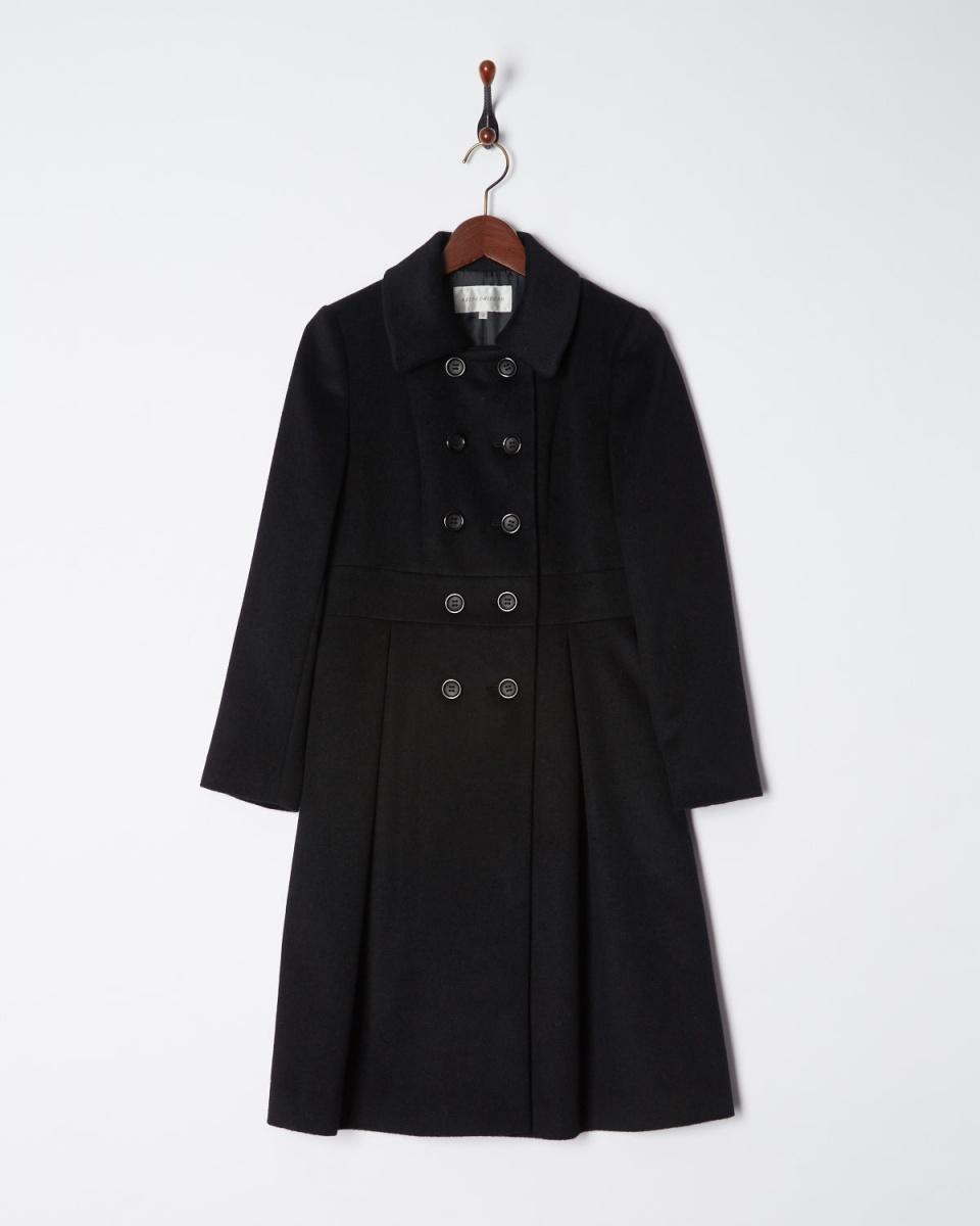 AZEY-LE / black Angola mixed coat ○ 9682 / Women's