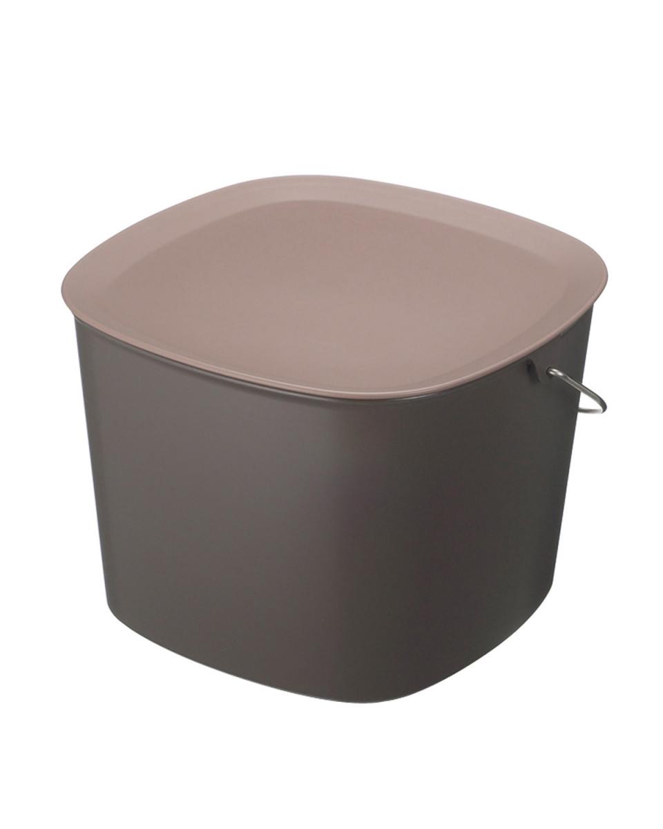 TIDY /棕色桶蓋桶○CE-666-200-4