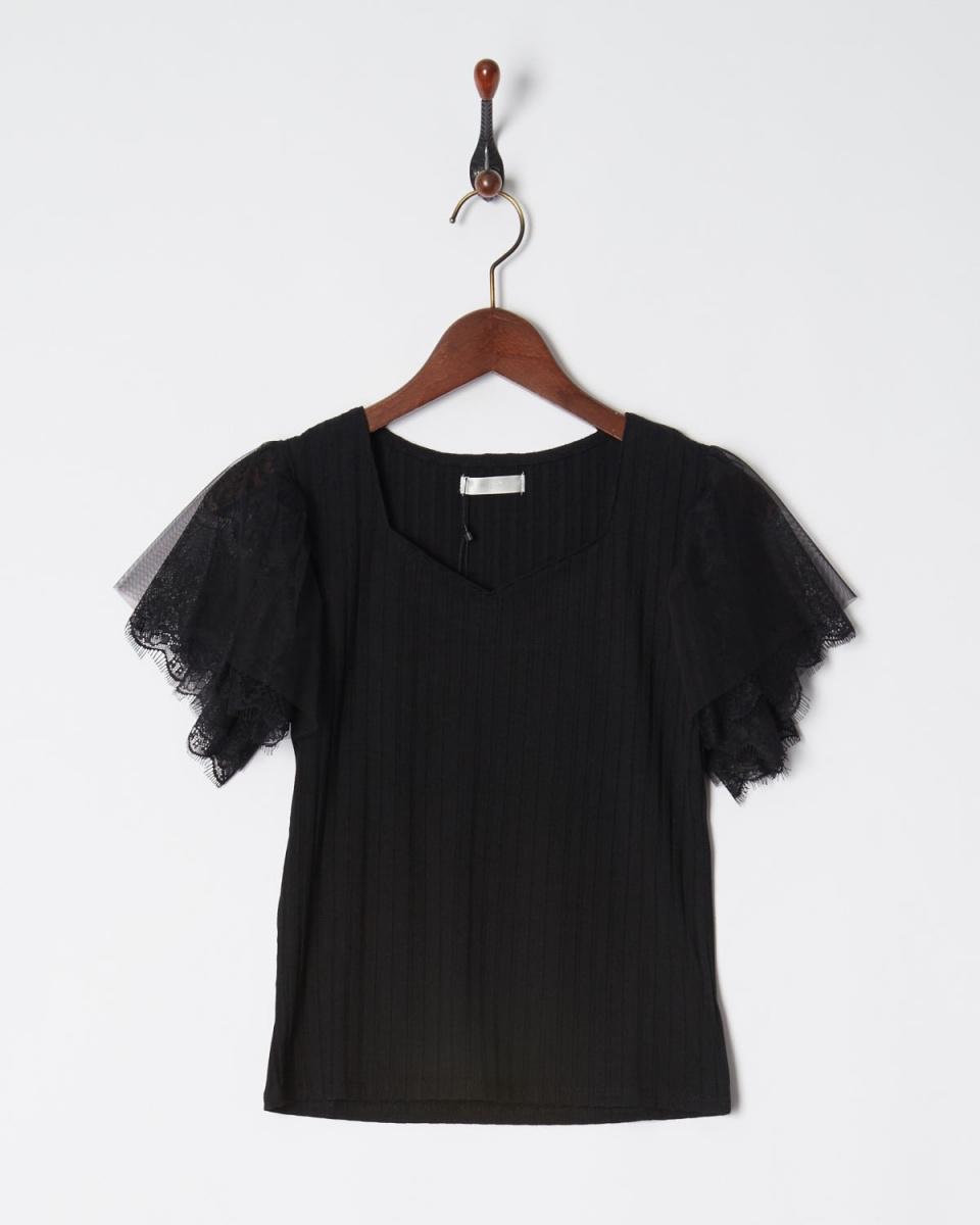 MIIA / BK薄纱×种族套上衣○34838424 /女子
