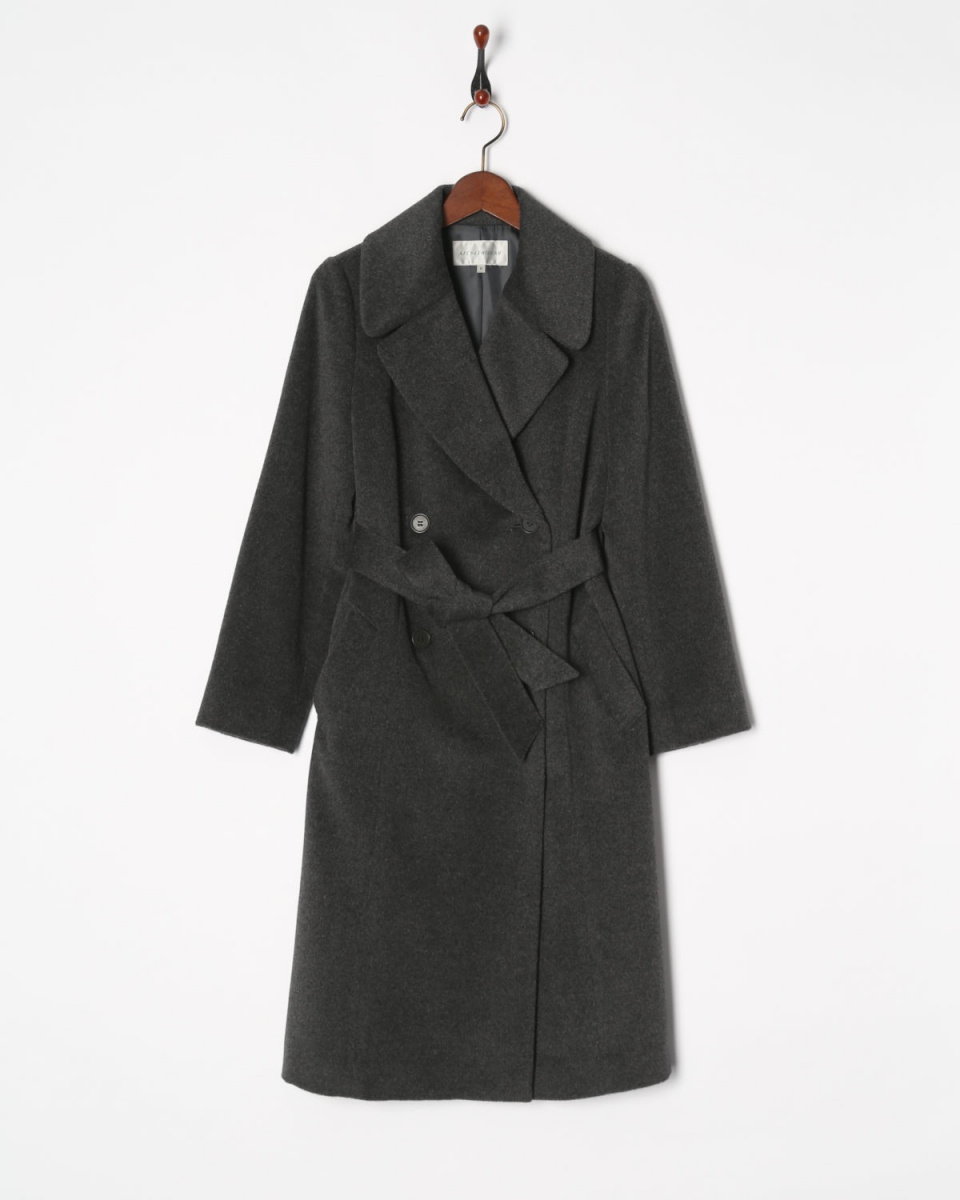 AZEY-LE /灰色安哥拉混合外套○9677 /女装