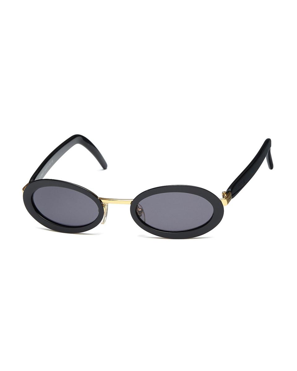 LA PERLA /黑色/金金属组合椭圆眼镜|女性○502