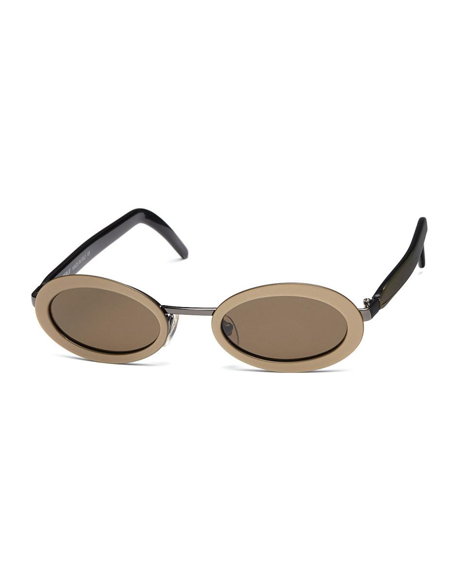 LA PERLA /清除金金属组合椭圆眼镜○502