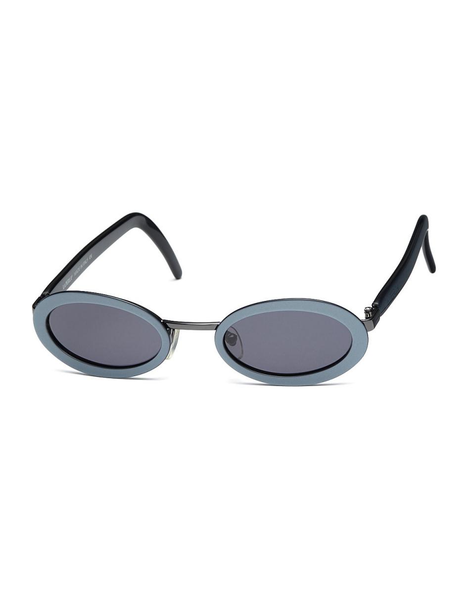 LA PERLA /透明蓝金属组合式椭圆形眼镜○502
