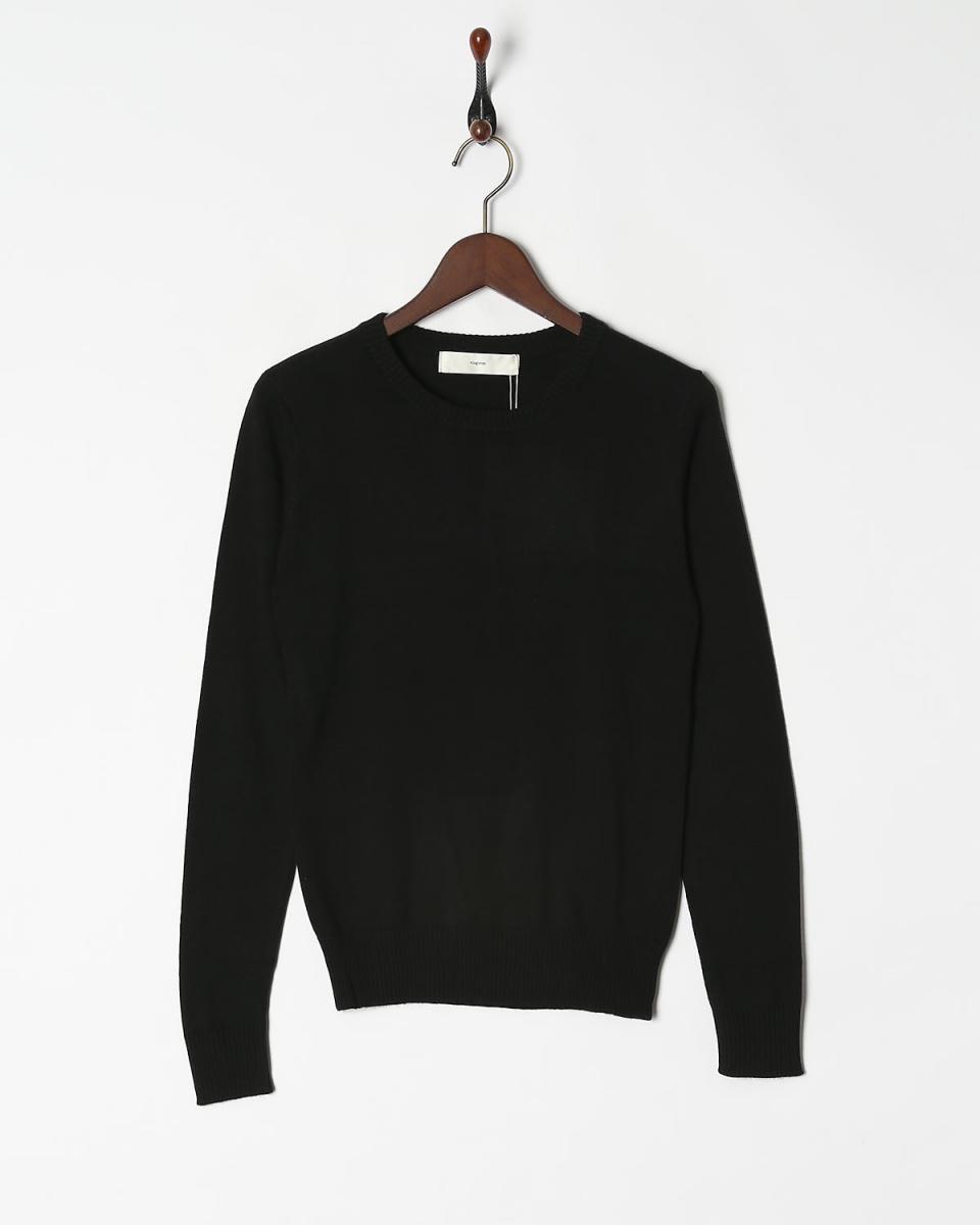 针织○133-98002 /女vingtrois /黑色套头衫基础