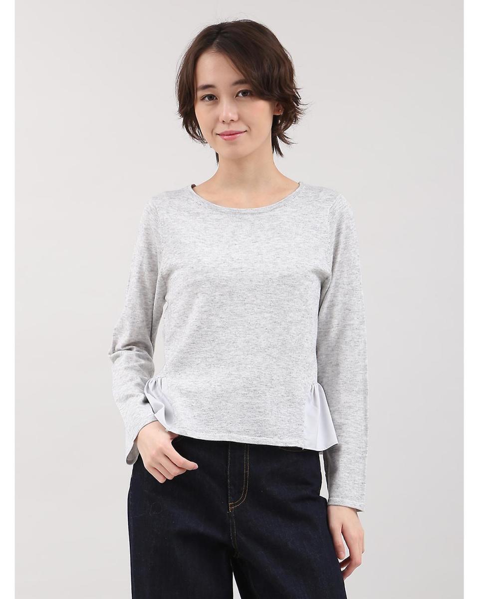 IT'S. International / gray 1 Pepuramu-style docking knit IT'S. International ○ 1074170066 / Women's