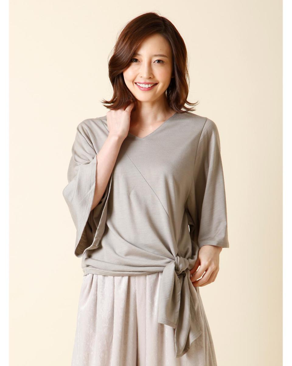 IT'S. International / medium gray 2 side ribbon cut IT'S. International ○ 1074190019 / Women's