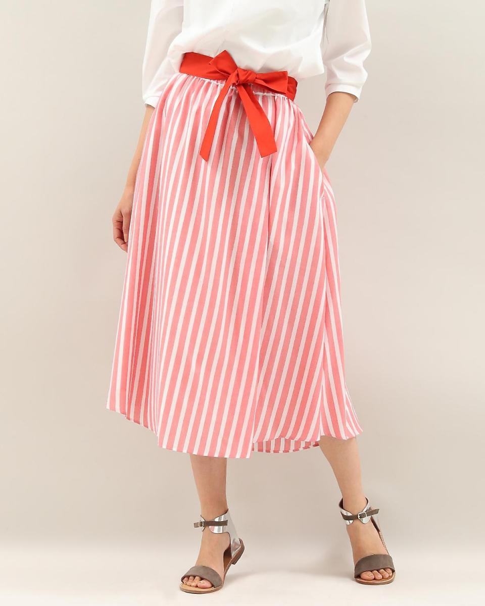 """IT'S. International / pink one stripe back long skirt """"POLKA"""" IT'S. International ○ 1081152019 / Women's"""