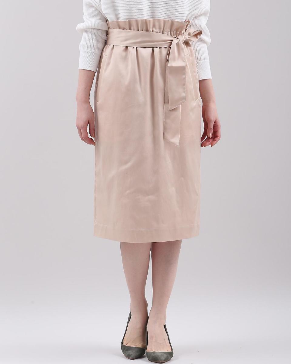 7-ID的概念。/橙紅色4色帶帶高腰A線裙7-ID的概念。○7081152007 /女性