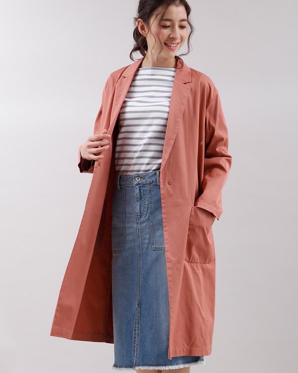INED / Grayish pink 3 Long Chester Court INED ○ 7171114003 / Women's