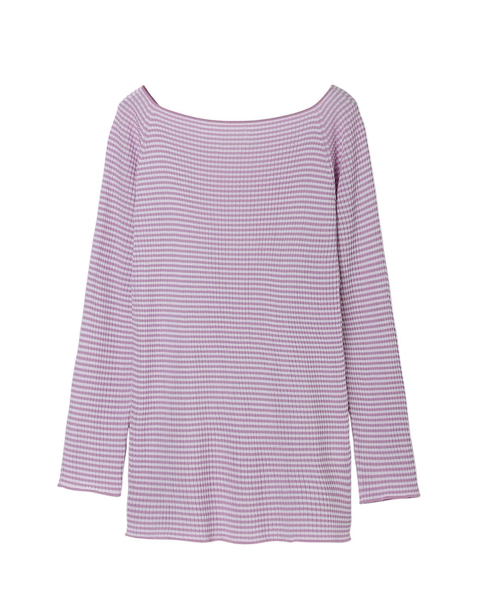 """INED / Red Purple 8 border stretch knit pullover """"COO"""" INED ○ 7171170032 / Women's"""