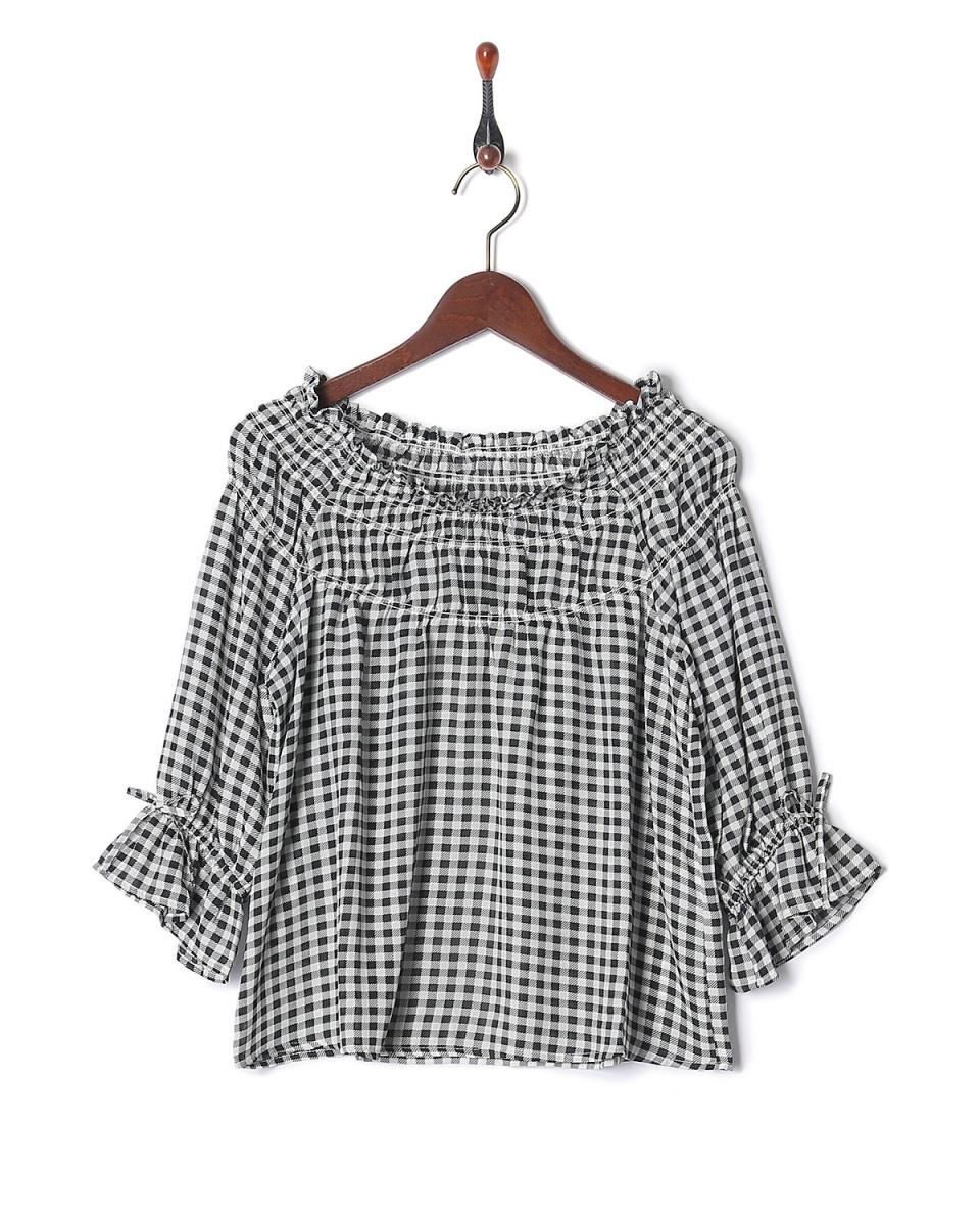 雷·卡森/黑色CRO糖果袖罩衫○985137160 /女裝