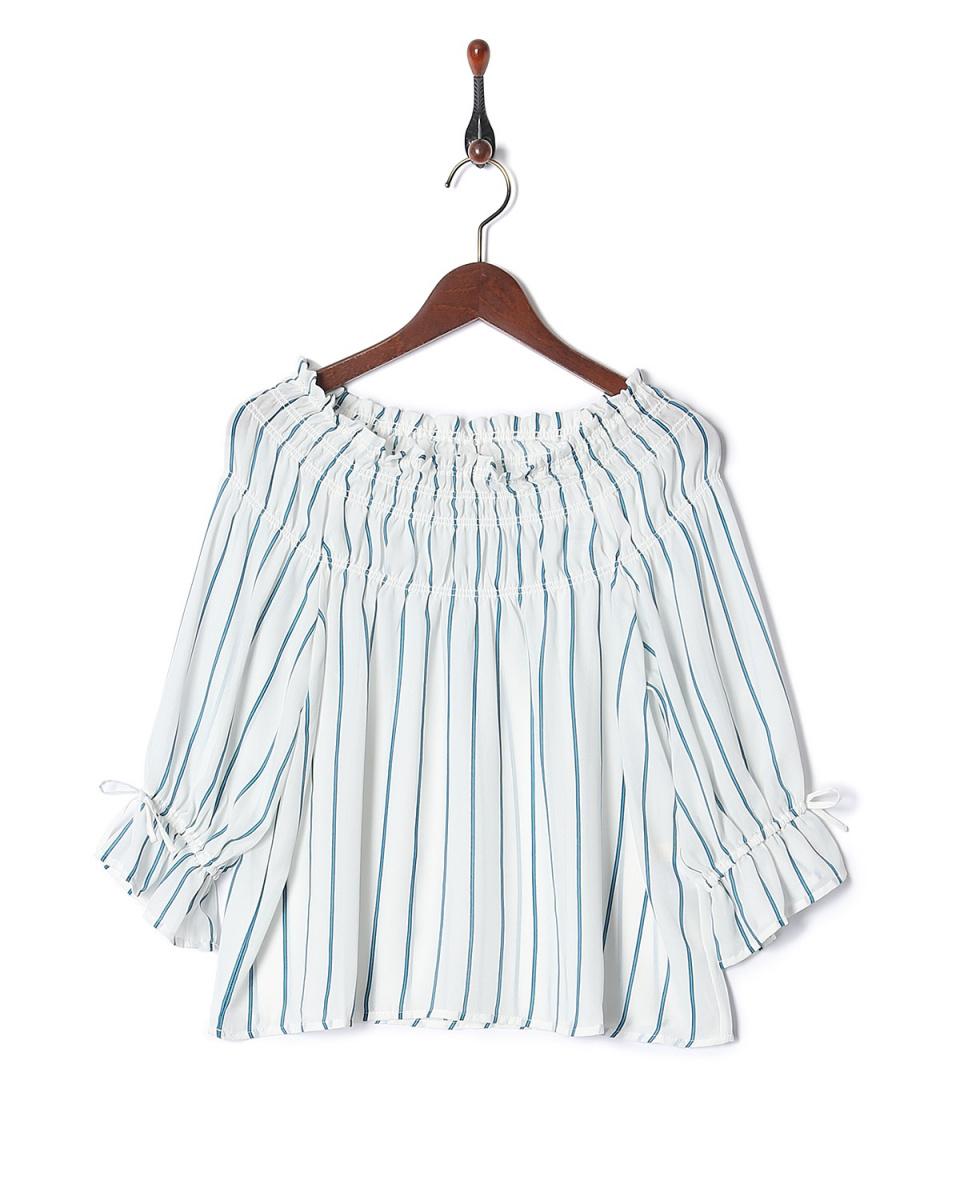 雷·卡森/綠色CRO糖果袖罩衫○985137160 /女裝