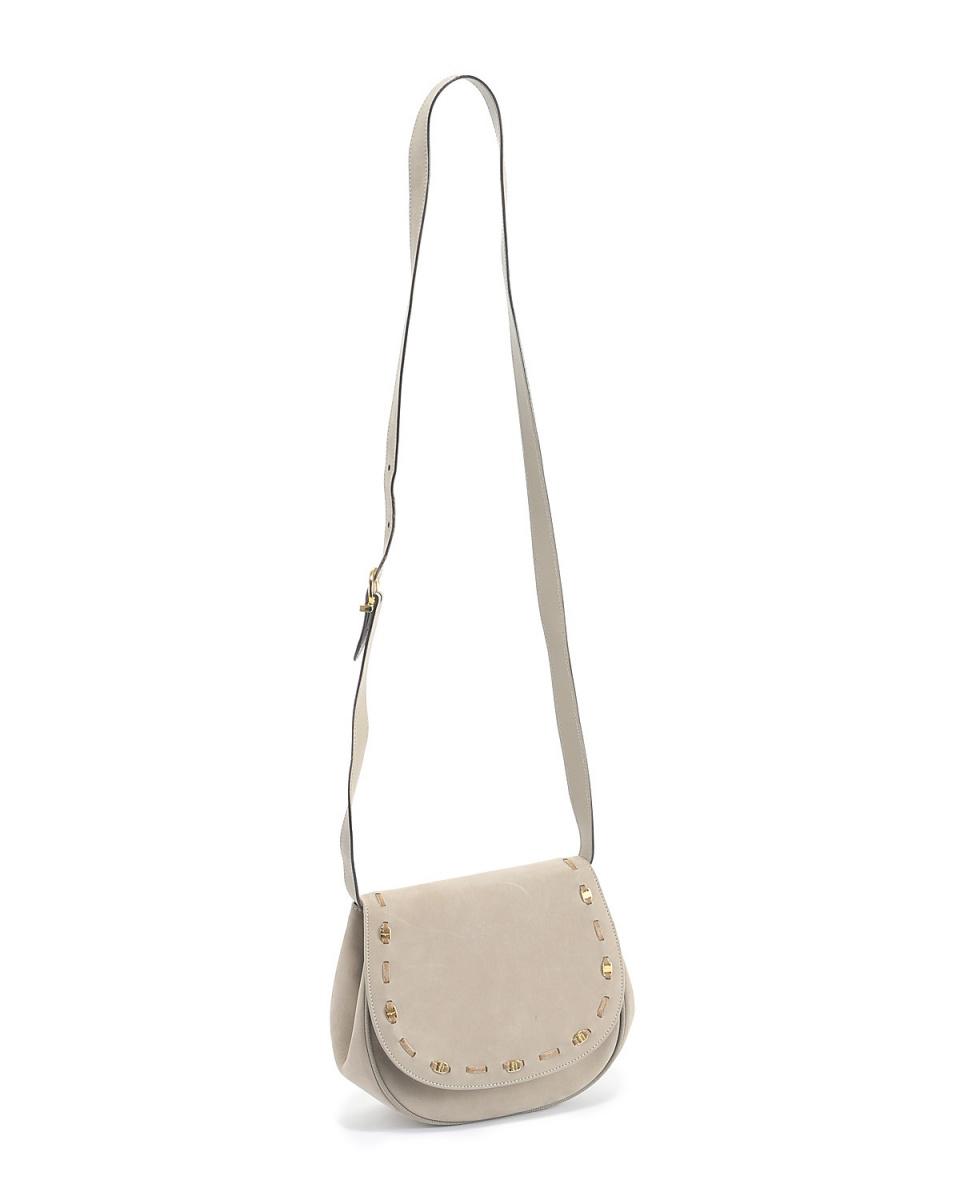 Ferragamo / Vala suede pochette shoulder bag GRY ○ GS5916