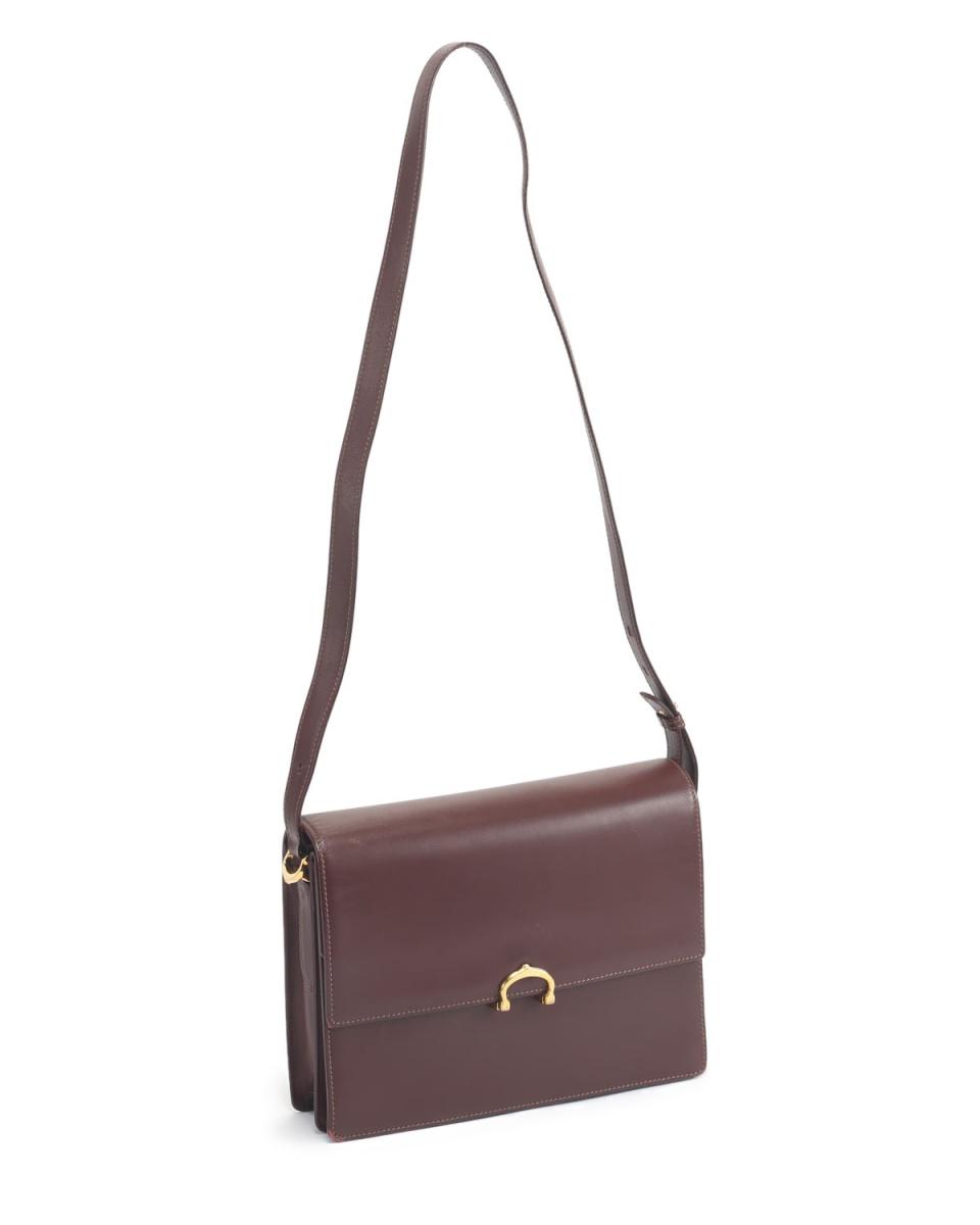 Cartier / mast shoulder bag Bordeaux ○ E11171