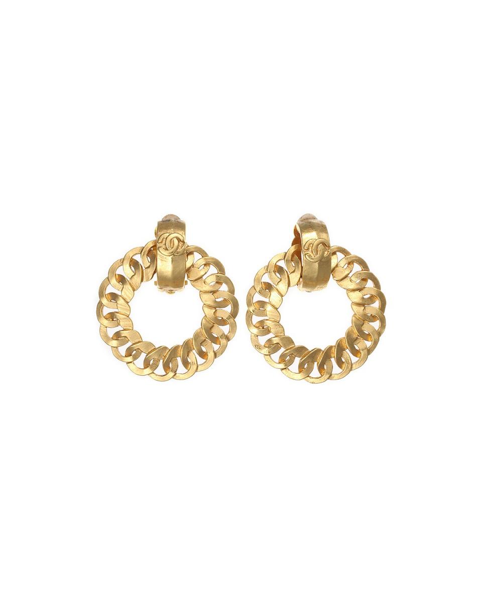 Chanel / hoop COCO mark earrings ○ W12822 / Women's