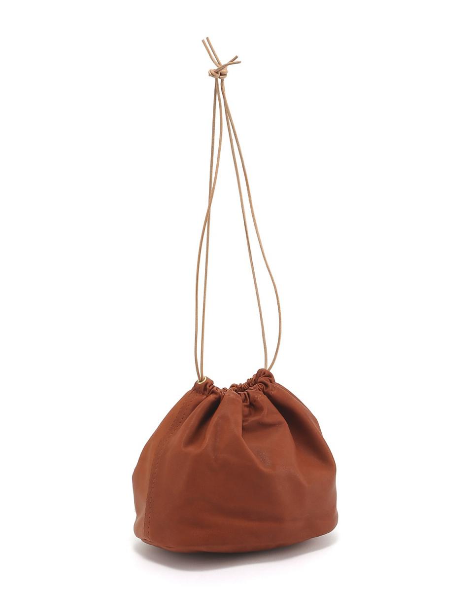 库努纳拉/骆驼牛皮拉绳袋○574K055