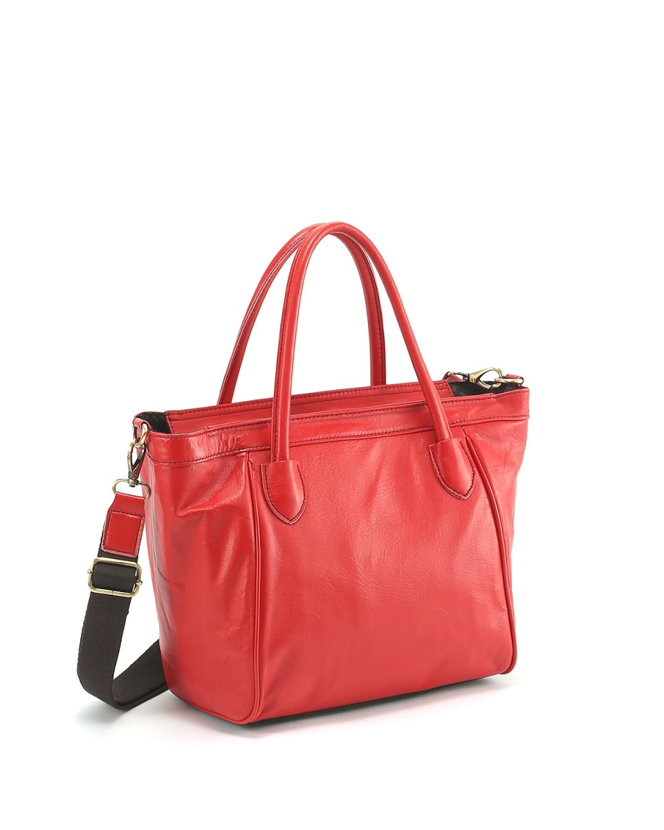 KUNUNURRA / Red COW leather 2WAY Tote ○ K908427