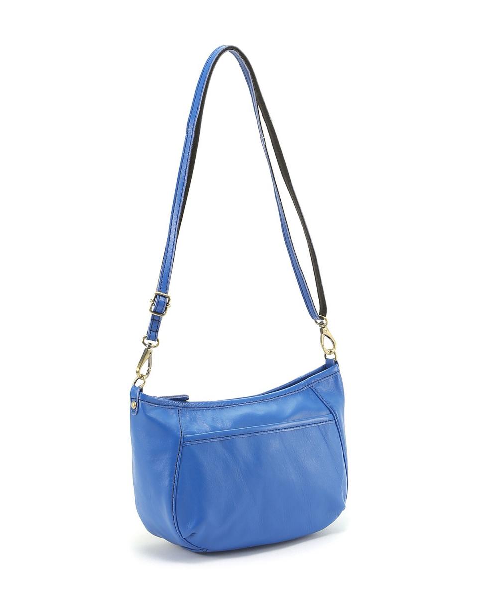 KUNUNURRA / Blue COW leather mini shoulder ○ K908429