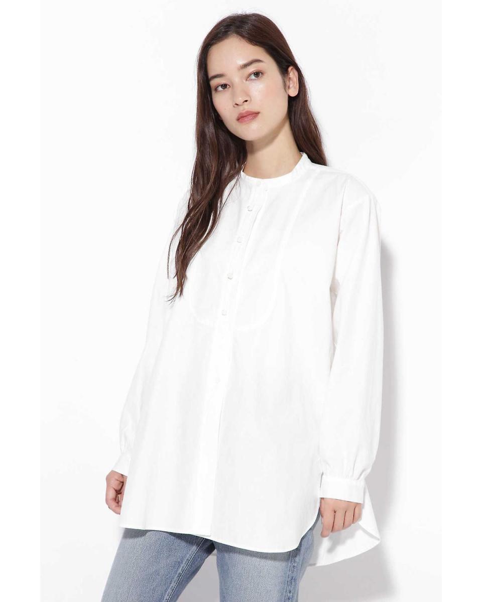 R / B(买入)/白1立领中间恤上衣R / B(买入)○6018210036 /女装