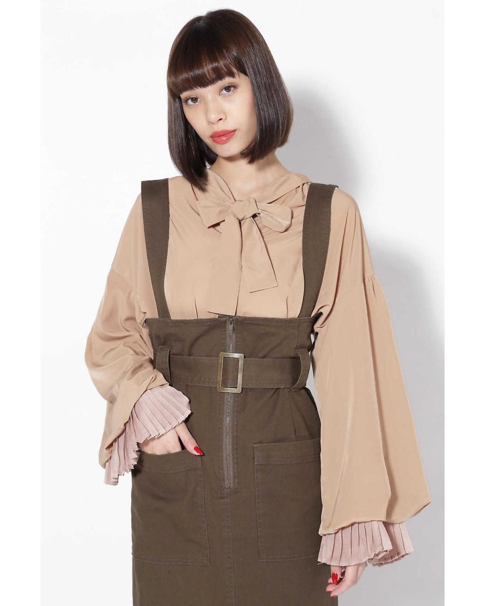 R / B (buying) / beige 1 volume sleeve bowtie blouse R / B (buying) ○ 6018210039 / Women's