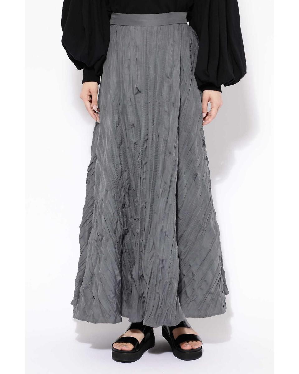 R / B(购买)/灰色-1无规褶长裙R / B(购买)○6018234035 /女性
