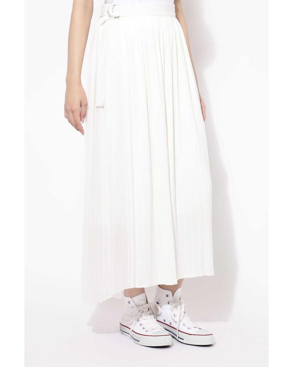 R / B (buying) / White 1 pleated wrap skirt R / B (buying) ○ 6018234036 / Women's