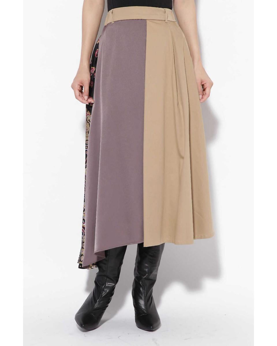 R / B(購買)/米色1顏色方案切換不對稱樹裙R / B(購買)○6018234043 /女性