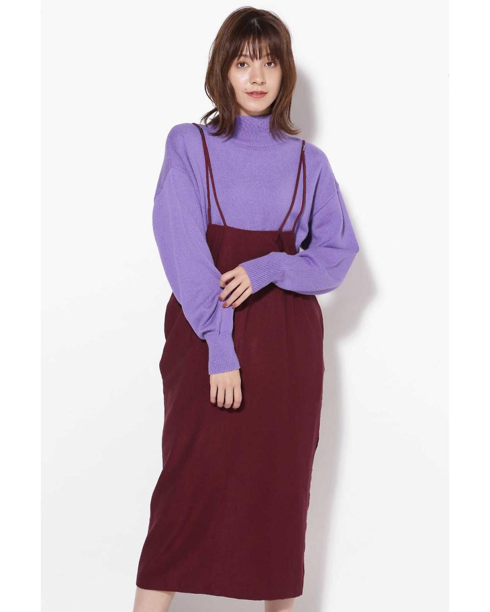 R / B (buying) / wine 1 strap straight skirt R / B (buying) ○ 6018234051 / Women's