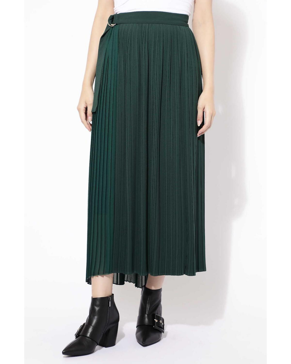 R / B (buying) / Green 1 pleated wrap skirt R / B (buying) ○ 6018234054 / Women's