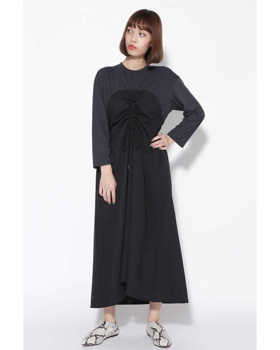 R / B (buying) / Black 1 Bear-style docking dress R / B (buying) ○ 6018240065 / Women's