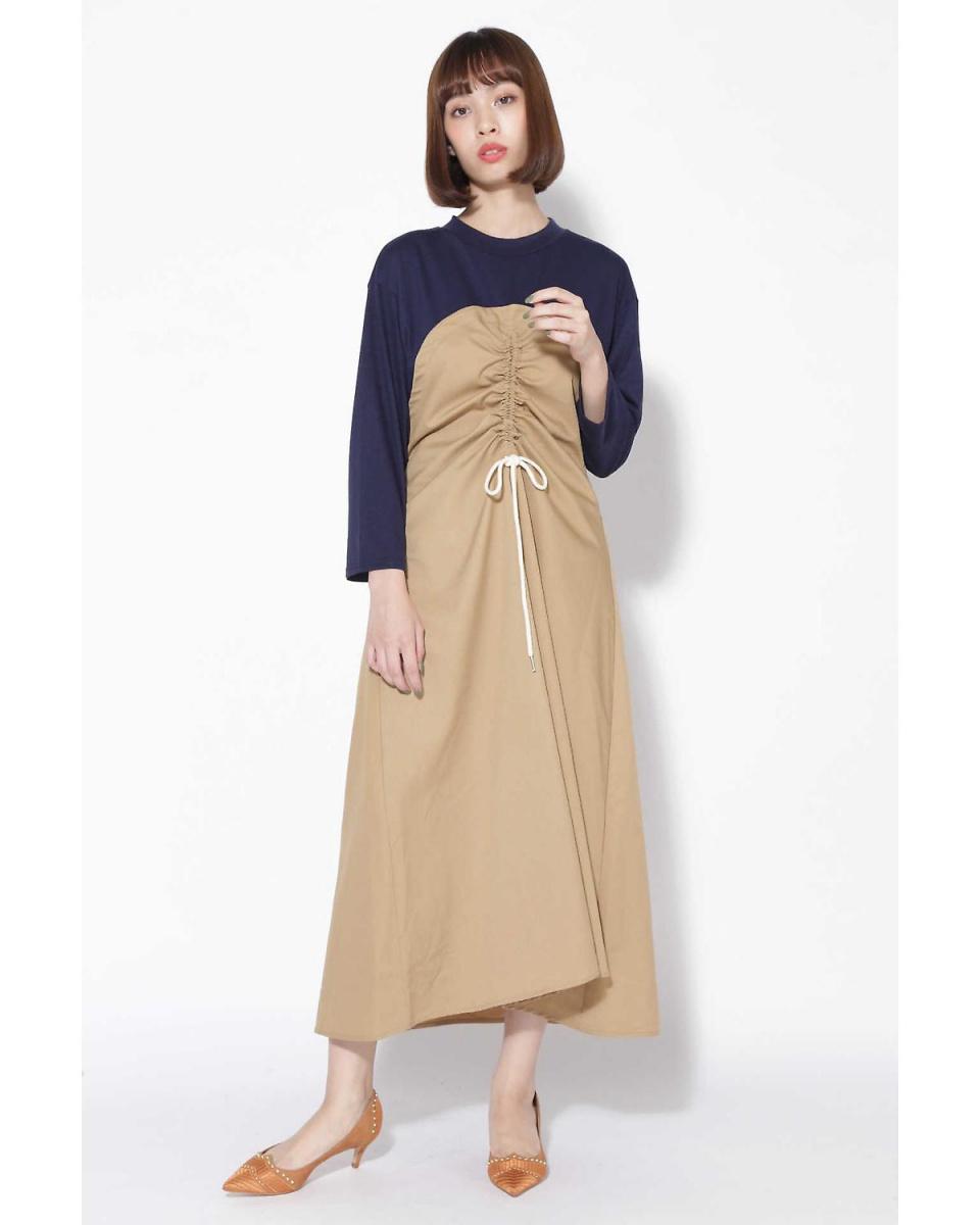 R / B(买入)/米色1熊式对接连衣裙R / B(买入)○6018240065 /女装