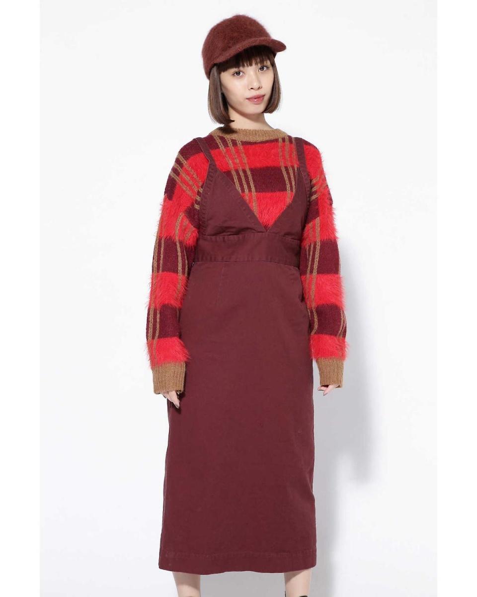 R / B(購買)/布朗1長長度跳線裙R / B(購買)○6018240066 /女性