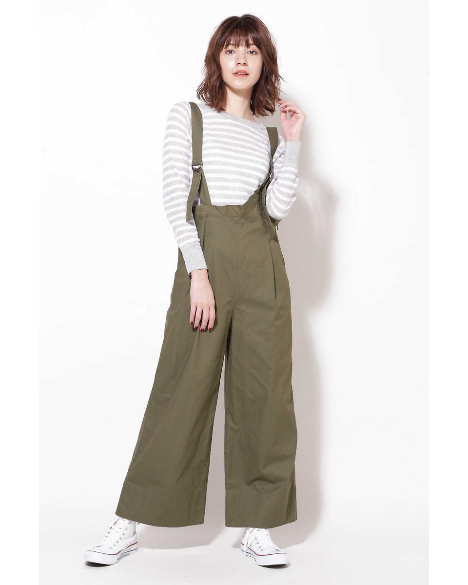 R / B (buying) / Khaki 1 overalls wide pants R / B (buying) ○ 6018243002 / Women's