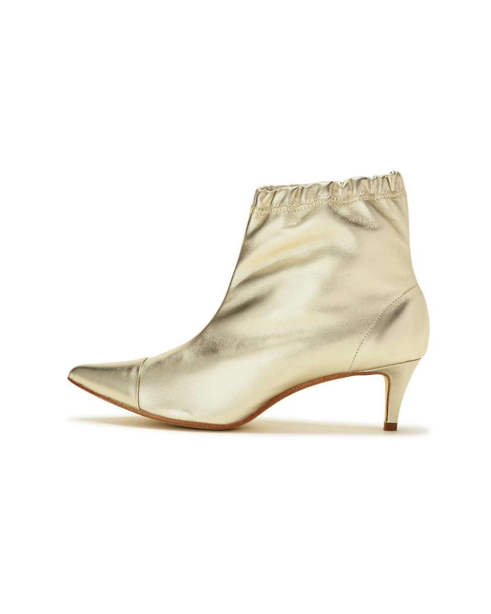 R / B (buying) / Gold 1 heel short boots R / B (buying) ○ 6018252026 / Women's