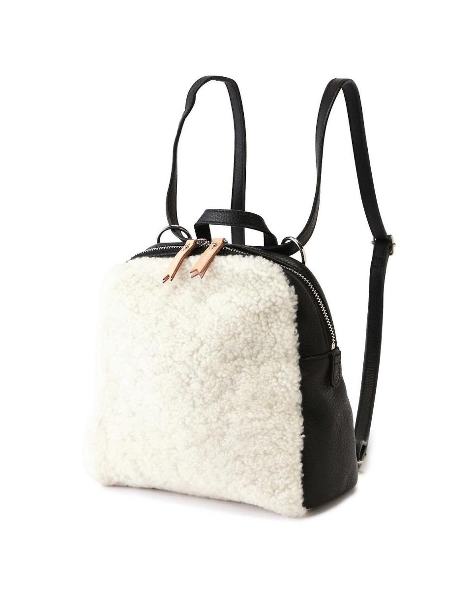 R / B(购买)/黑色不同的材料混合背包R / B(购买)○6018261082