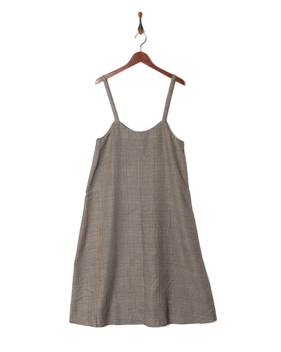 露西珍珠/布朗檢查CAMI禮服○F11-1531 /女裝
