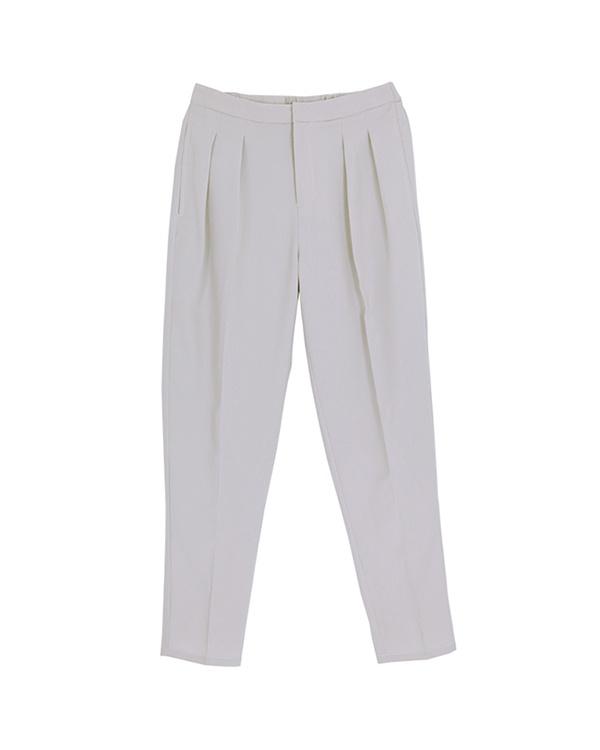 再找補一下/淺灰色光錐形折縫褲子○ATXP2084 /女性
