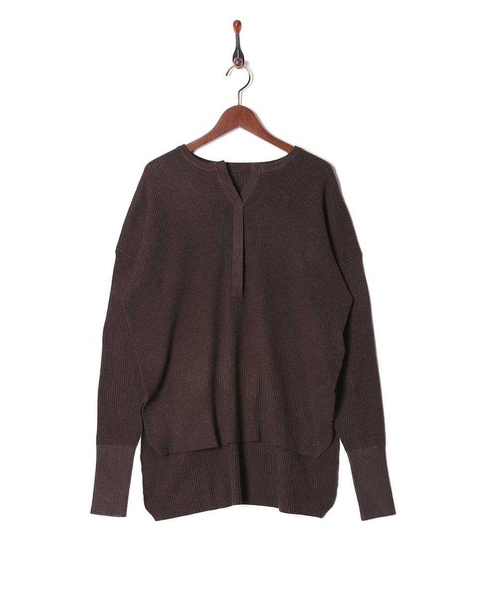 LILLY LYNQUE /棕色2WAY針織羅紋○8702154 /女裝