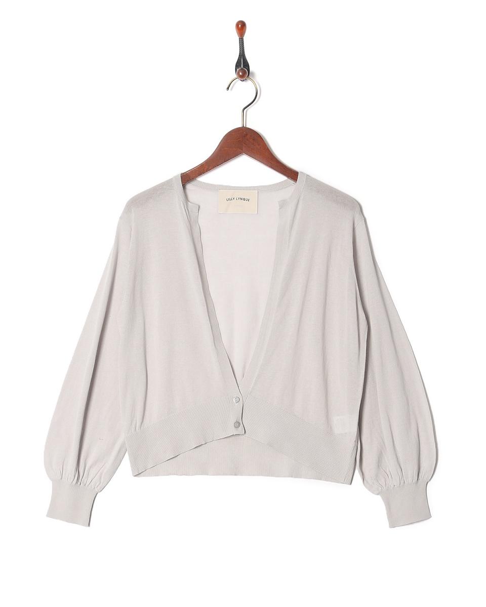 LILLY LYNQUE / l.gray高规针织开衫○8708210 /女装