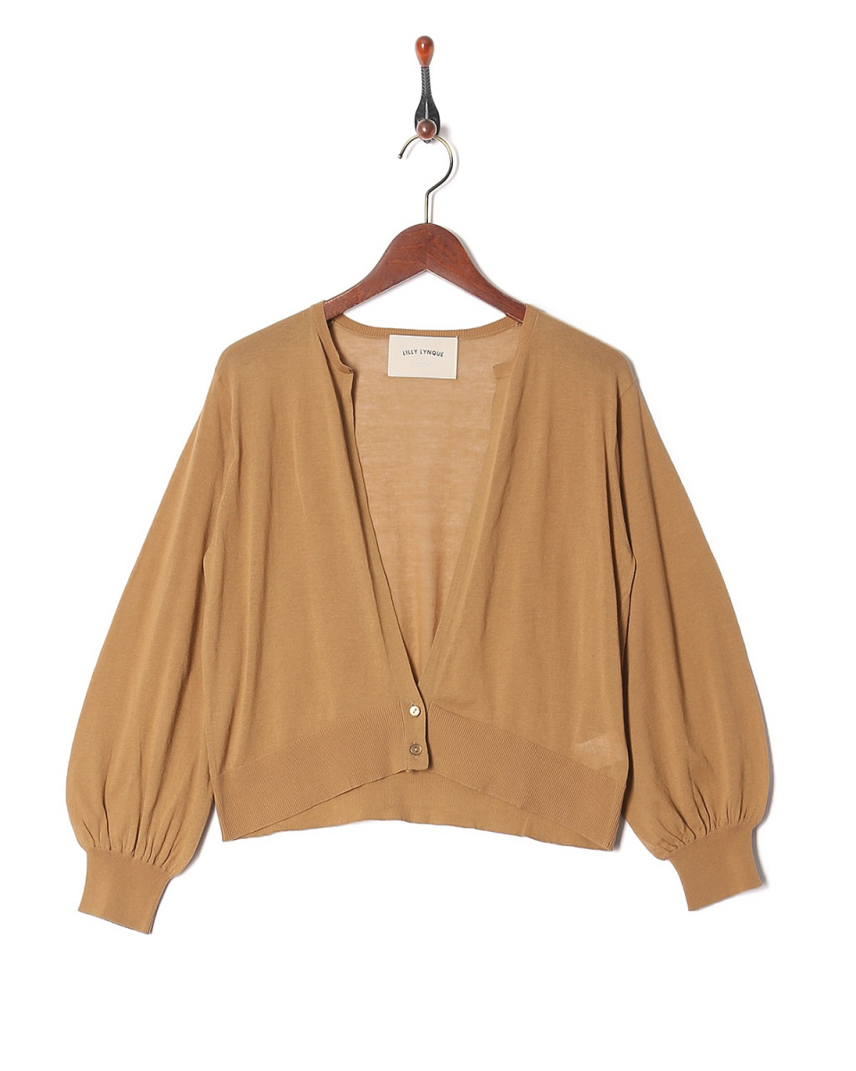 LILLY LYNQUE /棕色高规格的针织开衫○8708210 /女装