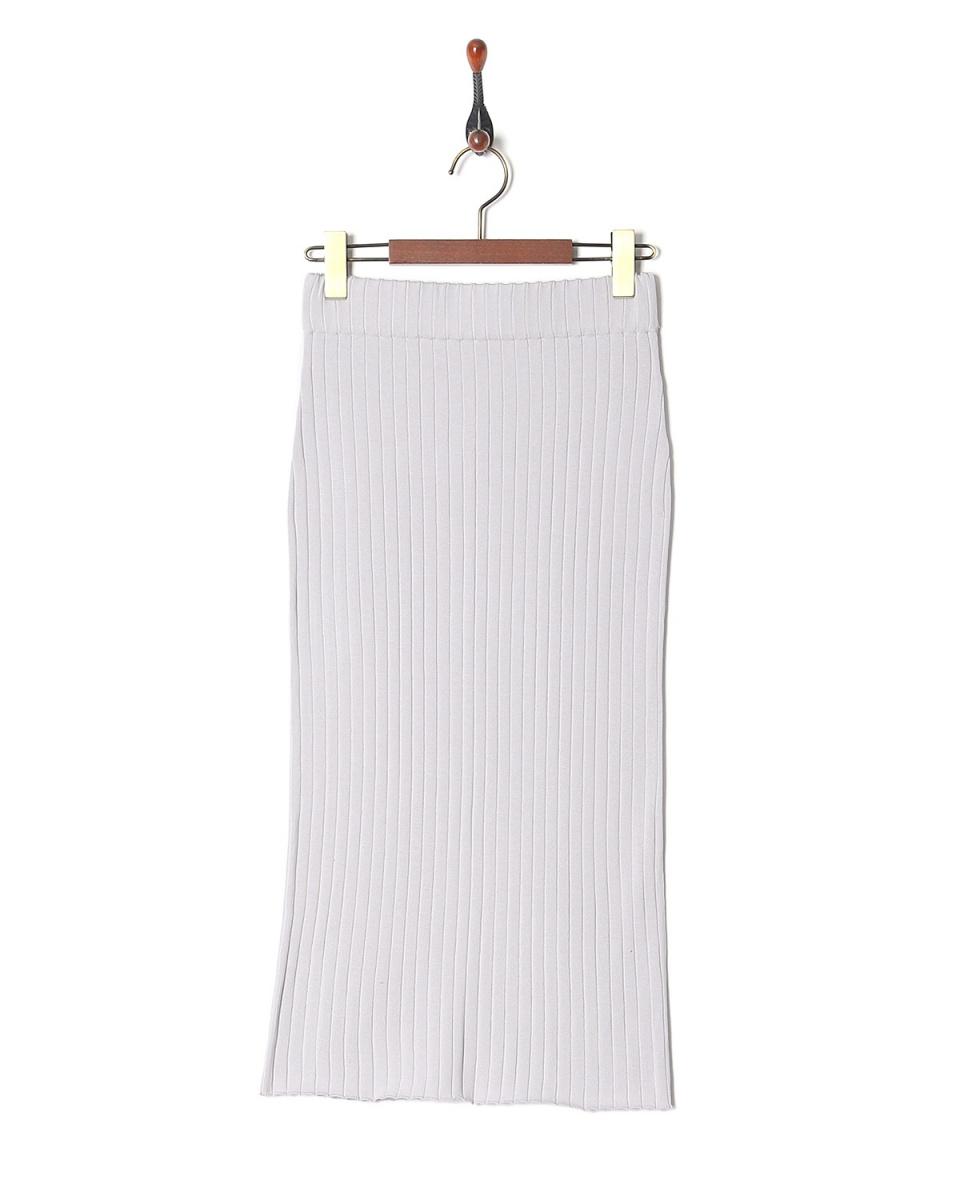 LILLY LYNQUE / lavender シルクコットンリブタイトスカート○8708229 / ウィメンズ